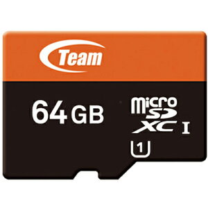 TEAMmicroSDカード64GBXtreemSDHCUHS-1対応SDアダプタ付きTUSDX64GUHS03