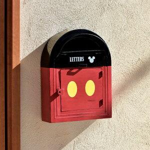 【送料無料】ウォールポスト ミッキー disney ディズニー ポスト 置き型 壁掛け おしゃれ かわいい 郵便 一戸建て用 郵便受け 置き型ポスト 郵便ポスト 新聞受け 鍵付き メールボックス