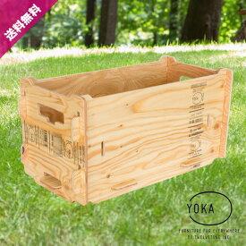 【送料無料】 YOKA ( ヨカ ) PANEL TOOLBOX パネルツールボックス コンテナ 収納ボックス 組立式 木製ボックス 木箱 収納ケース おしゃれ かっこいい インテリア アウトドア用品 レジャー用品 キャンプ バーベキュー BBQ