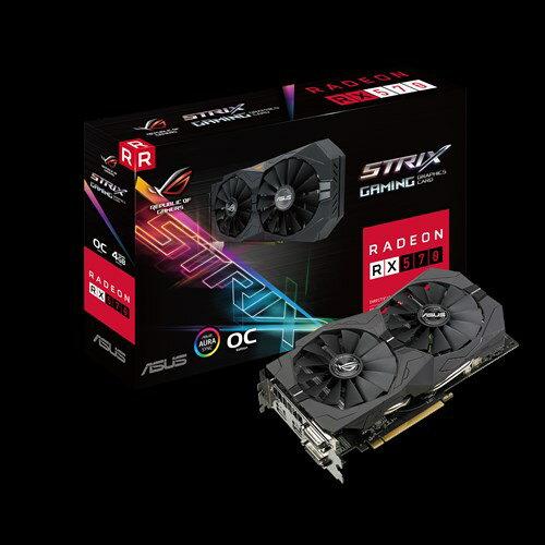 ASUSTeK ROG-STRIX-RX570-O4G-GAMING IP5X対応防塵ファンを搭載する高耐久なオーバークロック仕様のRadeon RX 570ビデオカード