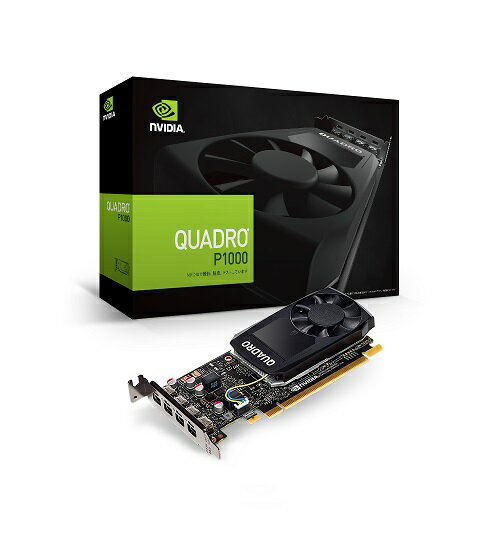 エルザ NVIDIA Quadro P1000 [EQP1000-4GER]ロープロファイル規格準拠のボードサイズにMini DisplayPort 1.4 コネクタを4系統搭載したプロフェッショナルグラフィックスボード。