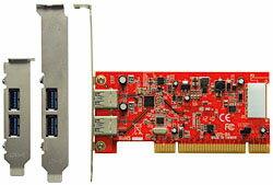 玄人志向 USB3.0R-P2-LPPCI PCI対応のUSB3.0インターフェースボード