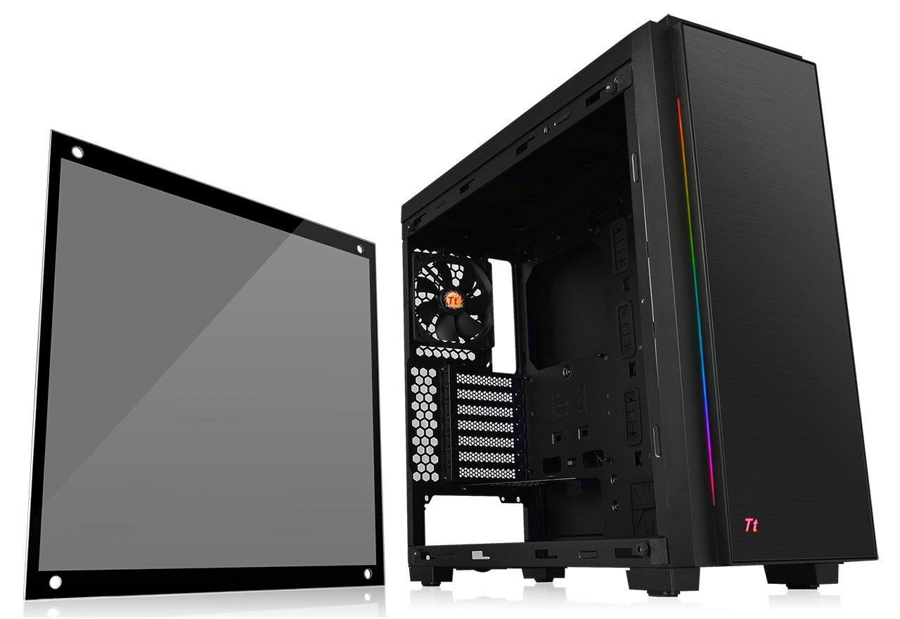 Thermaltake CA-1H7-00M1WN-00 Versa C23 RGB RGB発光に対応するLEDイルミネーションを搭載。優れた拡張性と冷却性能を備えるミドルタワー型PCケース(CS6914)