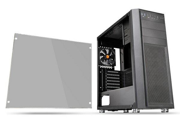 Thermaltake CA-1J5-00M1WN-00 (CS7278) [Versa H26 TG]サイドに4mm厚の強化ガラスパネルを搭載。あらゆる構成での組みやすさを追求したミドルタワー型PCケース【少量在庫有り】