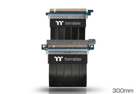 Thermaltake AC-045-CN1OTN-C1 TT Premium PCI Express Extender Cable(300mm) 信号のロスを抑え耐久性に優れたPCI Expressライザーケーブル