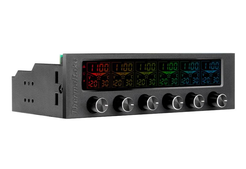 Thermaltake AC-024-BN1NAN-A1 Commander F6 RGB 最大6チャンネル対応のファンコントローラー