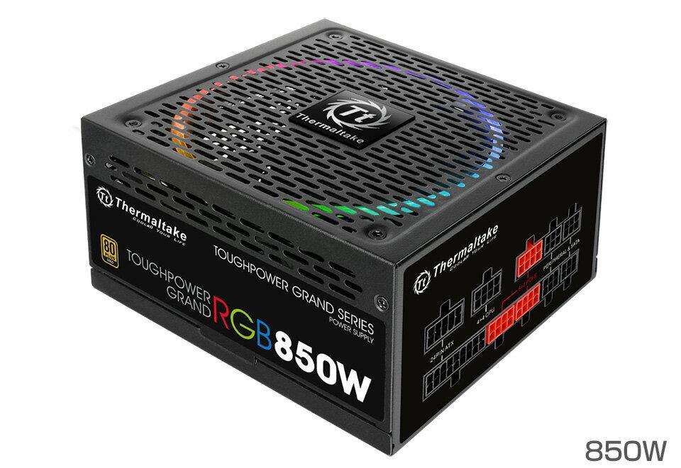 Thermaltake PS-TPG-0850FPCGJP-R TOUGHPOWER GRAND RGB -850W -NON DPS- 256色発光対応のファンを搭載し優れた安定性を実現する電源ユニット【少量在庫有り!】