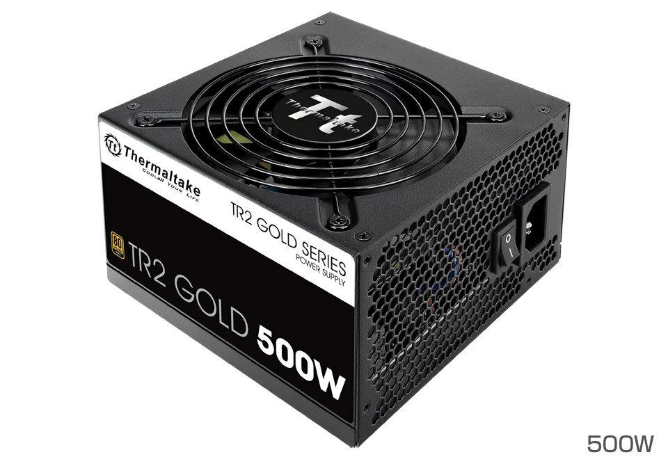 Thermaltake PS-TR2-0500NPCGJP-G-V2 [TR2 500W V2 -Gold-]80PLUS Gold認証取得 奥行140mmのコンパクト設計の電源ユニット(500W)