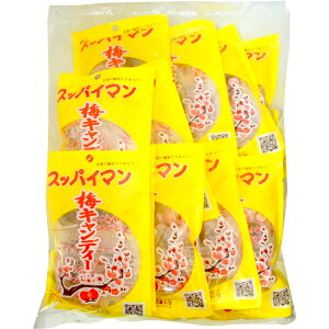 100円 ウエマ 5粒入スッパイマン梅キャンディー [1袋 15個入]【駄菓子 上間 梅 おやつ お菓子 熱中症 干し梅 あめ】