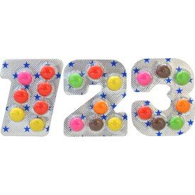 10円 ウィットナンバーチョコ [1箱 60個入]【駄菓子 チョコレート チーリン製菓 子供会 縁日 まとめ買い ウイットナンバー 数字チョコ】