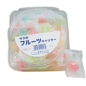 キッコー 10円 ザラ付き フルーツキャンディー 100入【ホワイトデー プレゼント】