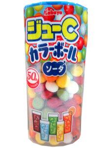 ジューC カラーボール ソーダ 10個入【駄菓子】