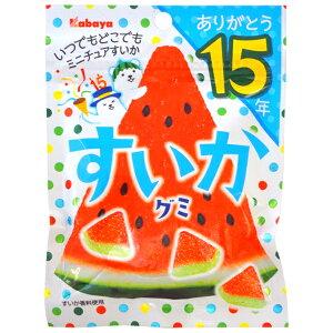 100円 50gすいかグミ [1箱 10個入]【お菓子 グミ 小袋 スイカ カバヤ食品 kabaya まとめ買い】
