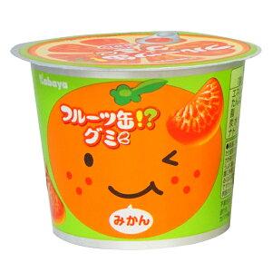100円 50gフルーツ缶グミ [1箱12個入]【カバヤ食品 お菓子 グミ みかん ミカン】