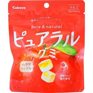 130円 カバヤ ピュアラルグミりんご [1箱 8個入] 【グミ りんご お菓子 まとめ買い】