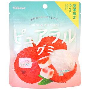 130円 カバヤ ピュアラルグミライチ [1箱 8個入]【ライチ グミ お菓子 まとめ買い】