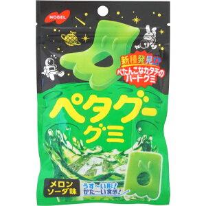 140円 ノーベル ペタグー メロンソーダ [1箱 6個入] 【お菓子 グミ メロン まとめ買い】