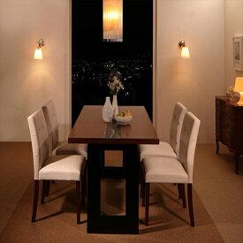 送料無料 ホテルスタイル レザー ダイニング Le Hyatt ル・ハイアット 5点セット(テーブル+チェア4脚) W150 500023742