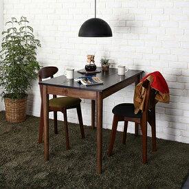 送料無料 ダイニングセット 3点セット(テーブル ブラック×ブラウン W115+チェア2脚) カフェ ヴィンテージ ダイニング Mumford マムフォード 木製 食卓 2人掛け ダークグレー グリーン 500029667