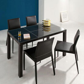 送料無料 テーブル5点セット ダイニングテーブルセット ダイニングテーブル 食卓テーブル クロスステッチレザーガラスダイニング -ヴァローネ/5点セット (テーブル幅135cm×1、チェア×4)- 家具通販 新生活 敬老の日 040605258