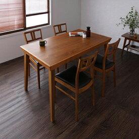 送料無料 テーブルセット ダイニングテーブルセット 食卓テーブル 木製テーブル ダイニングチェア ベンチ 天然木北欧ヴィンテージスタイルダイニング -ルイス/5点セット(テーブル幅135cm+チェア×4)- セット 北欧 家具通販 新生活 敬老の日 040605284