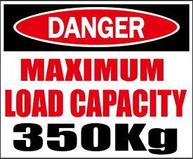 DANGER・最大積載量350kg★C/Dステッカー★シロウトモータース★4610MOTORS シール デカール DECAL STICKER 最大 積載 積載量 350 600 1000 KG
