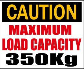 CAUTION・最大積載量350kg★C/Dステッカー★シロウトモータース★4610MOTORS シール デカール DECAL STICKER 最大 積載 積載量 350 600 1000 KG