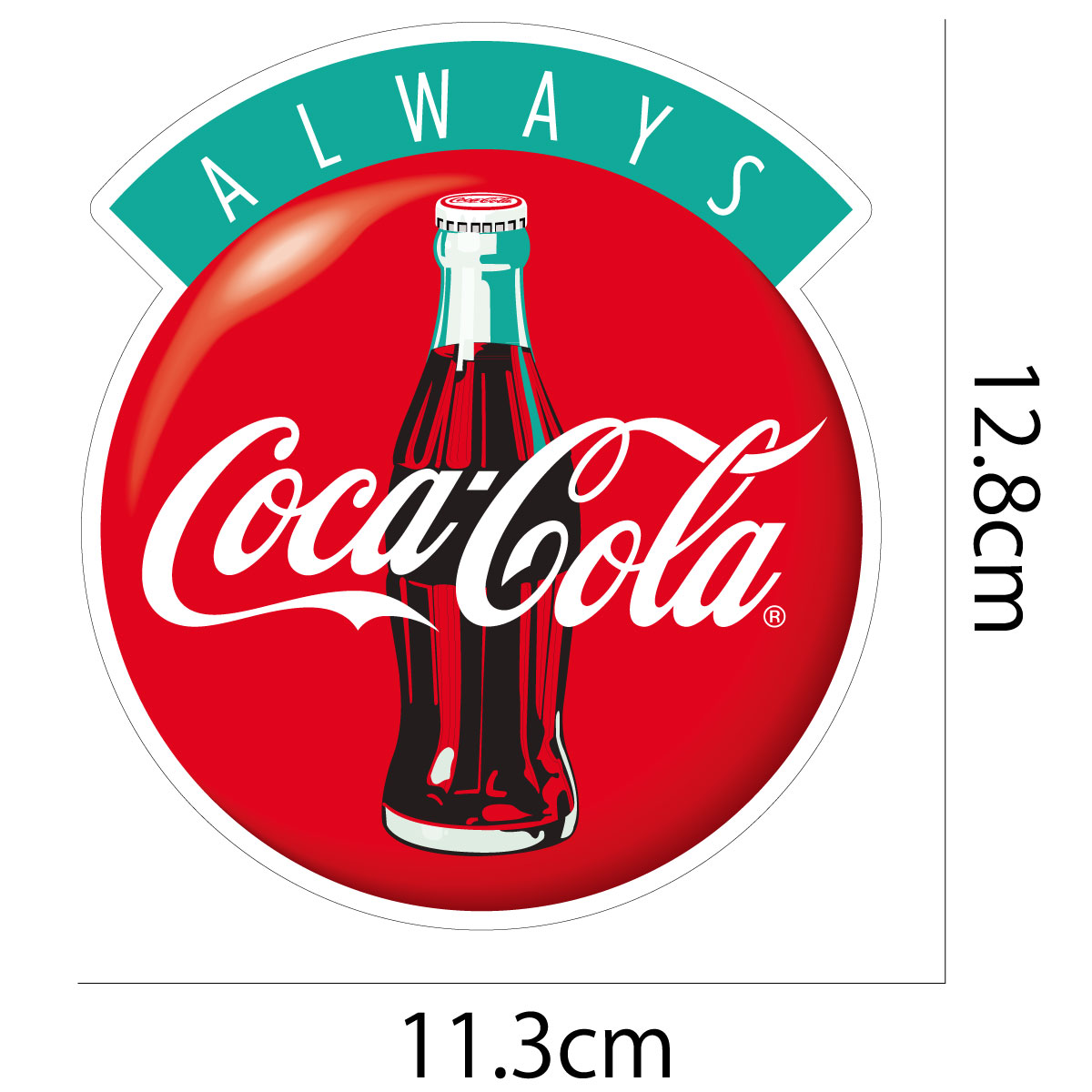 Coca-Cola☆CC-BS15★コカ・コーラ ステッカー★ALWAYS Coca-Cola/コカ・コーラ