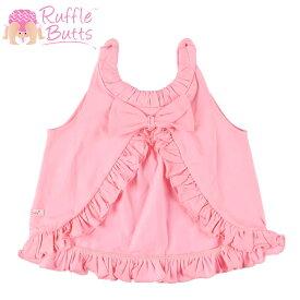 ラッフルバッツ スウィングトップ ベビー服 リボン フリル トップス RUFFLE BUTTS Pink Knit Ruffle Swing Top ピンク