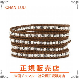 [Regular Edition] chanler and CHAN LUU Swarovski Crystal wrapped bracelet [bs-3270] CRYSTAL CAL / Brown