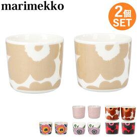【クーポンで全品15%オフ】 マリメッコ コーヒーカップ 2個セット ウニッコ Marimekko