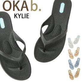 オカビー サンダル OKA b. KYLIE カイリー ウェッジソール トングサンダル 靴 ラバーシューズ オカビー サンダル 歩きやすい 疲れにくい サンダル ヒール ビーチ リゾート ギフト