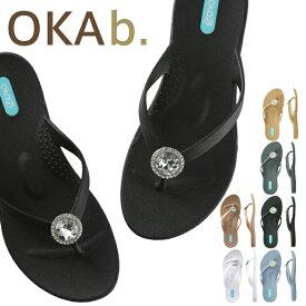 オカビー OKA b. エラ ビーチサンダル Ella Flip Flop サンダル トングサンダル 靴 ビーサン 歩きやすい 疲れにくい フラットシューズ ビーチ リゾート ギフト ビーチサンダル