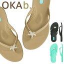【クーポンで全品15%オフ】 オカビー OKA b. ビーチサンダル Sunny Flip Flop サンダル トングサンダル 靴 ビーサン …