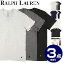 POLO RALPH LAURENのクルーネック半袖Tシャツ3枚セットラルフローレンのシンボルマーク!ポニーの刺繍入りインナー・下着としてお使いいただけます