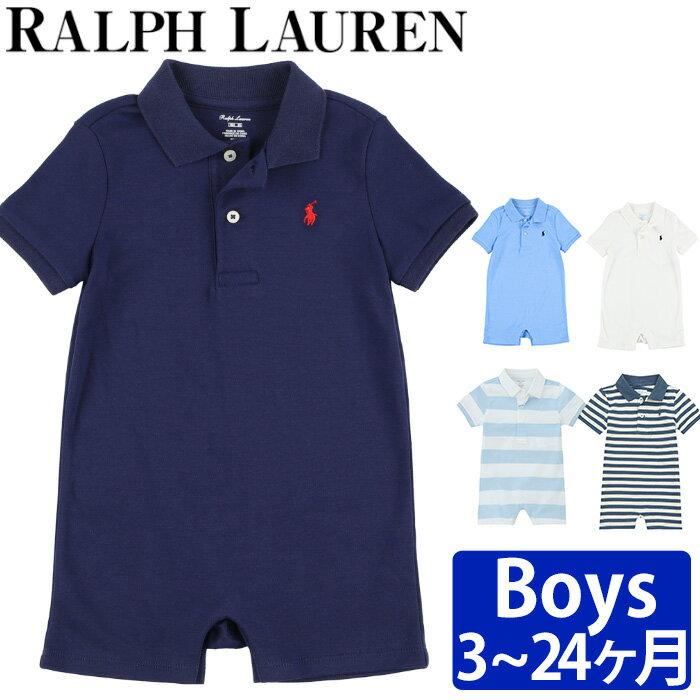 ポロ ラルフ ローレン お肌の弱い赤ちゃんに嬉しいコットン100%素材! 可愛いポニーの刺繍入りのショートオール☆