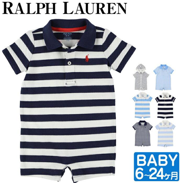 【全品15%オフクーポン】 ラルフローレン ベビー ロンパース Ralph Lauren ボーイズ メッシュ 半袖 キッズ 男の子 服 6ヶ月-24ヶ月