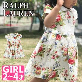 Polo ラルフローレン キッズ ワンピース 花柄 ポロ ベビー キッズ 女の子 ガールズ POLO RALPH LAUREN ポロ PRINTED OXFORD-SS FLORAL DRESS