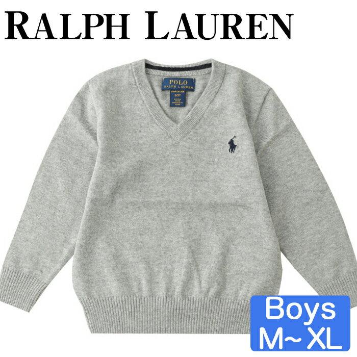 1枚持っていると重宝するシンプルなVネックセーター大人の方も着れるサイズ感