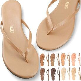 TKEES ティキーズ ビーチサンダル サンダル SHIMMER SANDAL トングサンダル 靴 ビーチサンダル 歩きやすい 疲れにくい フラットシューズ ビーチ リゾート ギフト レザーシューズ