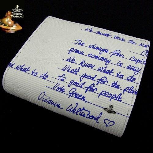 【SALE&送料無料】9,800!!ヴィヴィアンウエストウッドVivienne Westwood牛革 財布多数カードケース使い心地◎ ホワイトご注文頂いた即日発送翌日お届け♪【楽ギフ_包装選択】【あす楽対応】