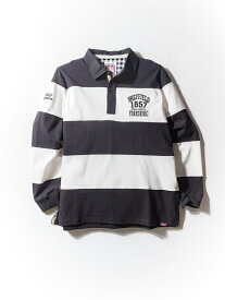 ポロシャツ 大きいサイズ メンズ カジュアルトップス 3L 4L 5L OLD KINGDOM(オールドキングダム) 度詰天竺切替ラガーシャツ ホワイト/無地 大きいサイズの店 フォーエル