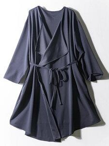 ジャケット 大きいサイズ レディース アウター 3L 4L 5L Rei 梨地カットソーテロンチ ネービー・無地 レディース(ウィメンズ) ジャケット 大きいサイズの店 フォーエル