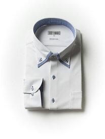 【P5倍+10%OFF】大きいサイズ メンズ 3L 4L 5L 【完全ノーアイロン】アイシャツ ボタンダウン ホワイト・織柄無地 大きいサイズの店 フォーエル クールビズ