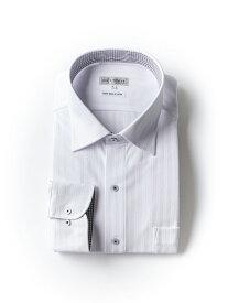【P5倍+10%OFF】大きいサイズ メンズ ワイシャツ ヘリンボン調 ストライプ セミワイド【モノトーンシリーズ】 アイシャツ 3L 4L 5L 6L 7L 8L 大きいサイズの店 フォーエル クールビズ