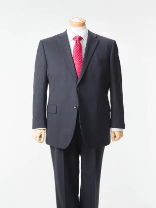 大きいサイズ メンズ 3L 4L 5L メンズ スーツ シングル ツーピース 2つボタン フランコロサッティ 2WAYストレッチ ブラック 【ファイテン加工アジャスター付スーツ】