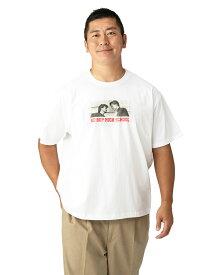 tシャツ 大きいサイズ メンズ カジュアルトップス 3L 4L 5L BE-BOP HIGH SCHOOL コラボ 胸元プリント半袖Tシャツ ホワイト 大きいサイズの店 フォーエル feature06