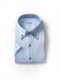 i-shirt5900 大きいサイズ メンズ半袖Yシャツ i-shirt P100 ミニヘリンボン 変形BD【半袖】 アイシャツ 2L 3L 4L 5L 6L 7L 大きいサイズの店 フォーエル