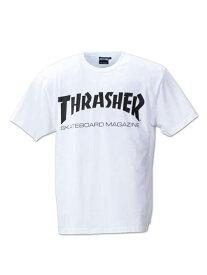 半袖カットソー 大きいサイズ メンズカジュアルインナー THRASHERMAGLOGプリント半袖Tシャツ THRASHER 3L 4L 5L 6L 8L 大きいサイズの店 フォーエル