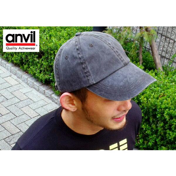 anvil キャップ アンビル キャップ 帽子 コットンキャップ 6パネルキャップ メンズ レディース 紫外線対策 無地帽子 uv対策 ホワイト 白 グリーン 緑 ブルー グレ メール便対応